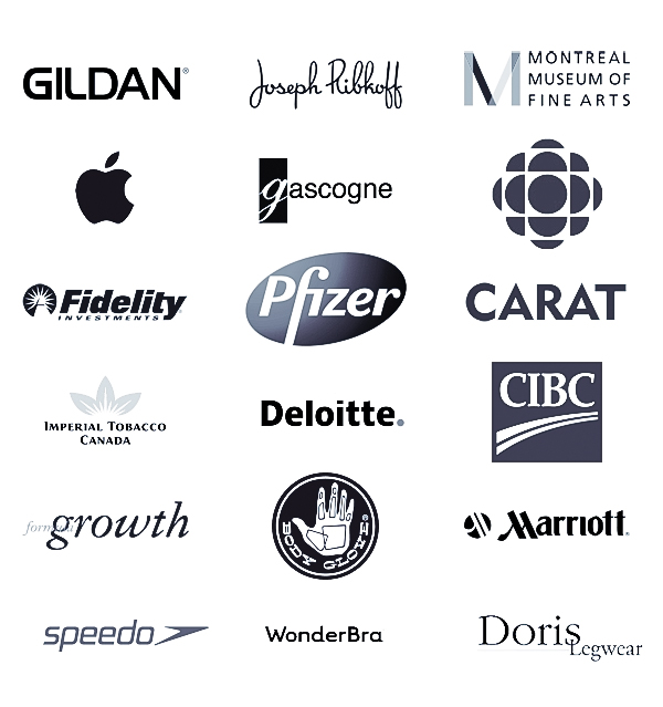 Pierre Arsenault's clients logos