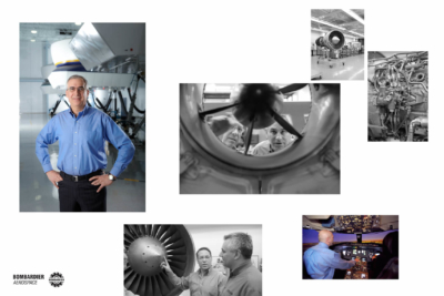 Corporate photo montage for Bombardier, by Pierre Arsenault Photo
