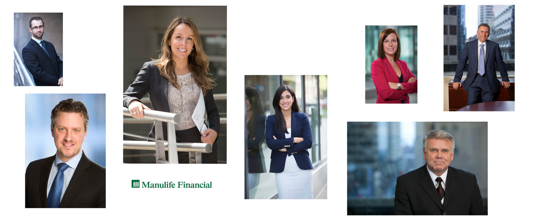 Corporate-Photo-Collage-of-Headshots-Photographed for-Manulife-Financial