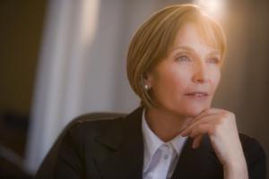 Senior female executive natural light portrait