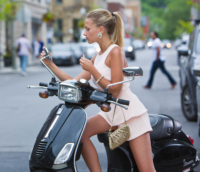 Woman on a Vespa, Fashion photo by Pierre Arsenault