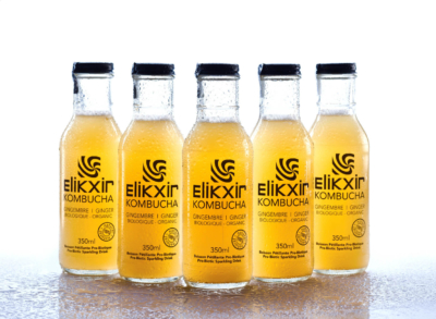 Elikxir Kombucha studio still life photography by Pierre Arsenault