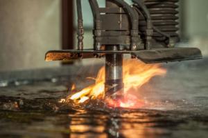 Plasma cutting by Pierre Arsenault, industrial photographer
