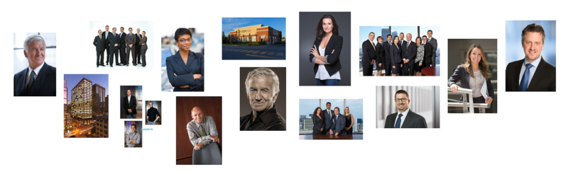 Collage of Montreal Corporate Photography by Pierre Arsenault